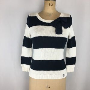 Gilly Hicks Striped Bow Detail Sweater